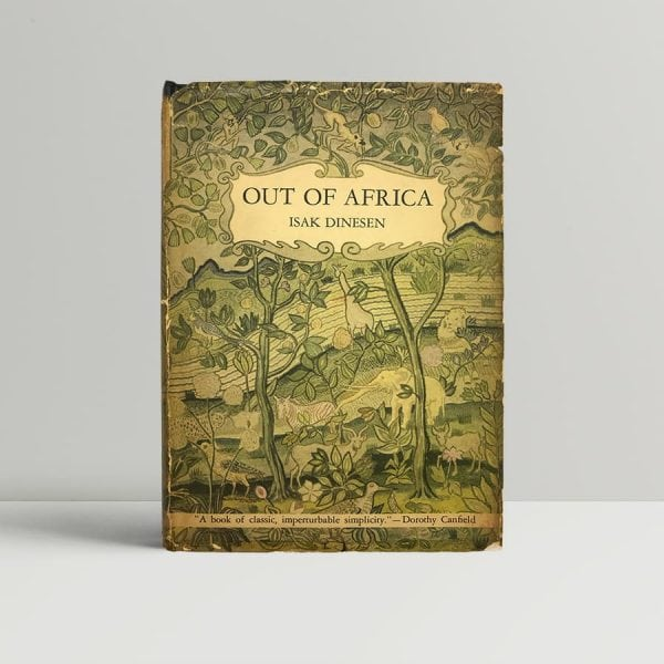 dinesen isak karen blixen out of africa first us edition 1938 9607