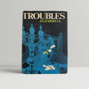 farrell james j g troubles first uk edition signed