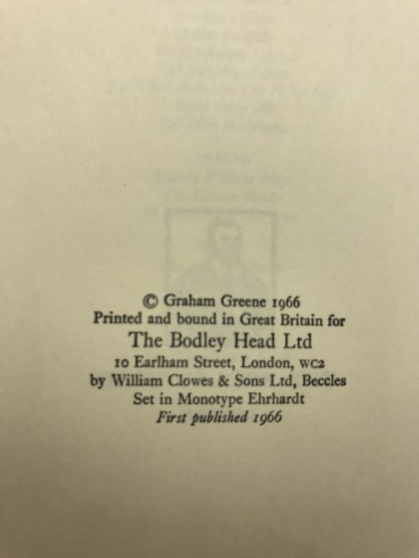 graham greene the comedians first edition2 1