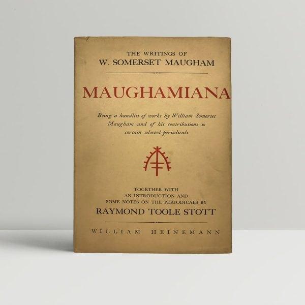 raymond toole scott maughamiana first uk edition 1950