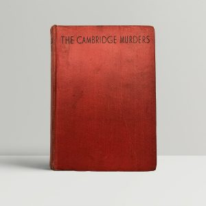 adam broome the cambridge murders first uk edition 1936