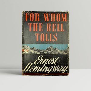 ernest hemingway for whom the bell tolls first us edition 1940 signed