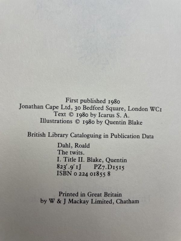 roald dahl the twits first edition2