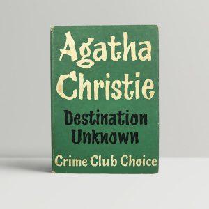 agatha christie destination unknown first edition1