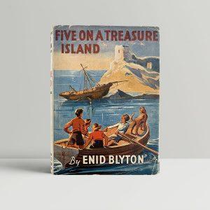 enid blyton five on a treasure island first uk edition 1942