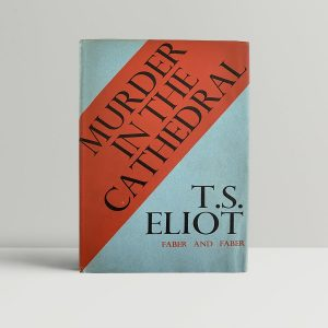 t s eliot murder in the cathedral first uk edition 1935 signed and inscribed