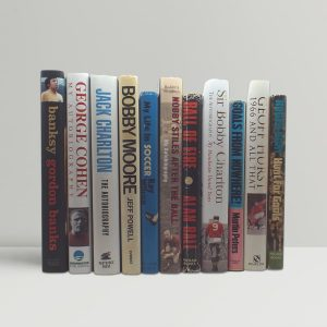 a set of all 11 autobiographies signed by the 1966 england world cup winning team