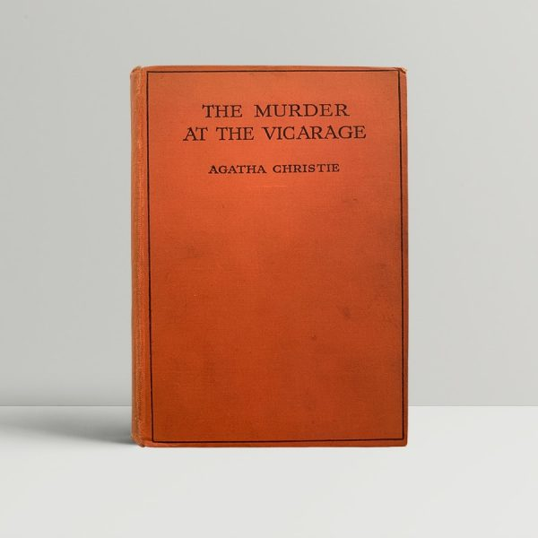 Agatha Christie Murder At The Vicarage First Edition