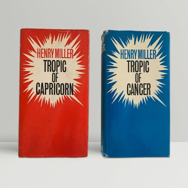 henry miller tropic of cancer with tropic of capricorn first uk editions signed