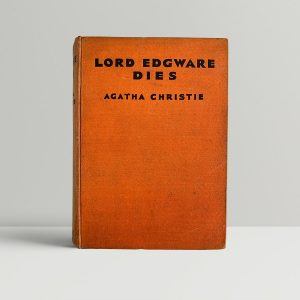 Agatha Christie Lord Edgware Dies First Edition