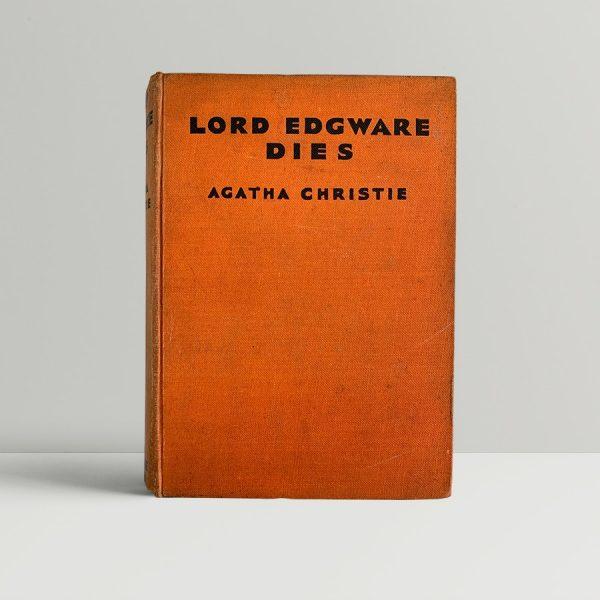 Agatha Christie Lord Edgware Dies First Edition