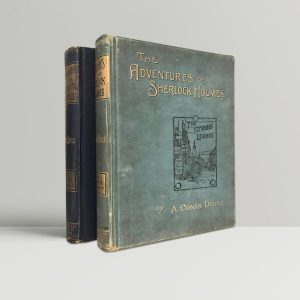 arthur conan doyle adventures of sherlock holmes with the memoirs of sherlock holmes first uk editions 1892 1894