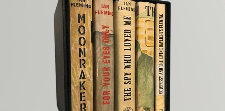 ian fleming the roger moore james bond collection all first edition first printings signed by sir roger moore