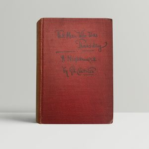 kg chesterton the man who was thursday first edition1