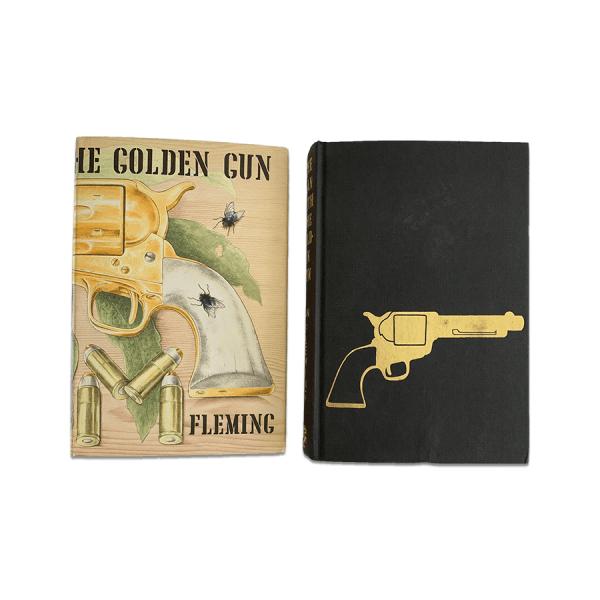ian fleming the man with the golden gun first uk edition 1965 golden gun on board