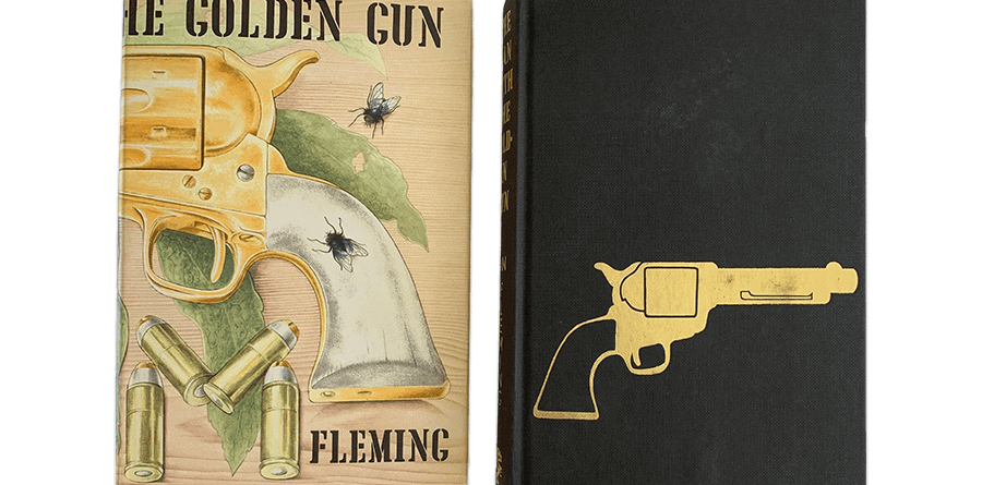 ian fleming the man with the golden gun first uk edition 1965 golden gun on board