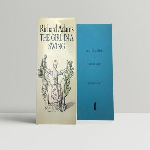 adams richard the girl in the swing first uk edition proof signed