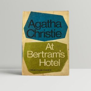 agatha christie at bertrams hotel first uk edition 1965