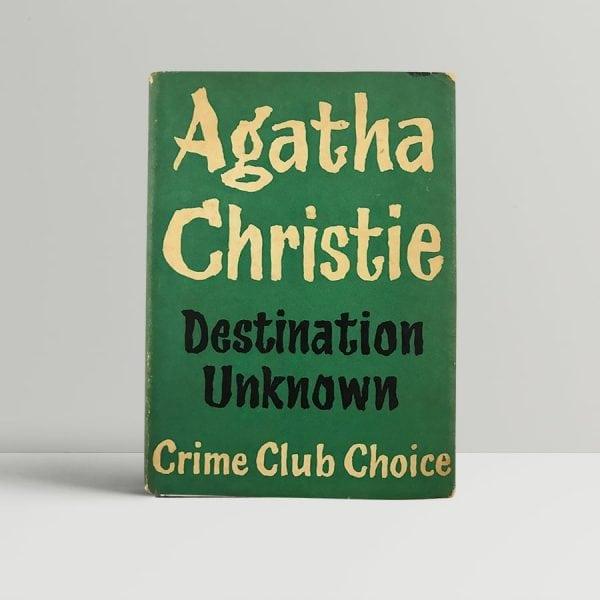 agatha christie destination unknown first uk edition 1954 2