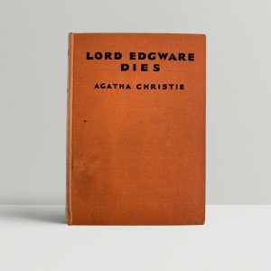 agatha christie lord edgware dies first uk edition 1933