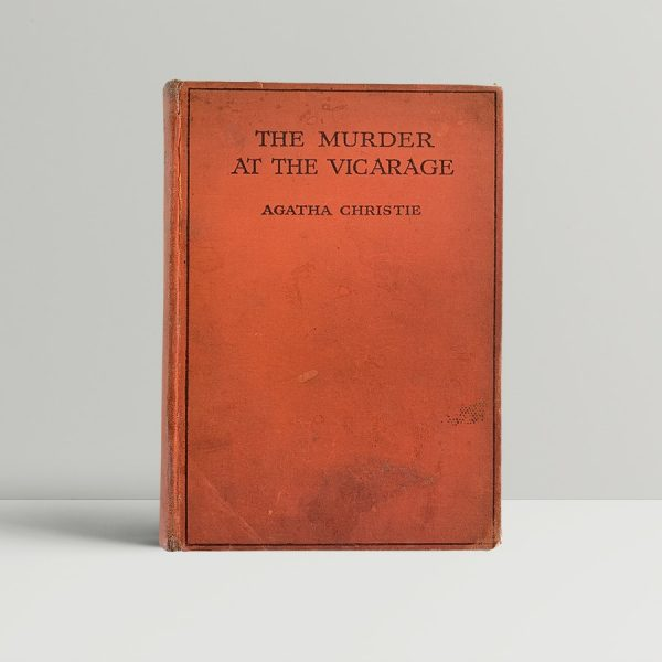 agatha christie the murder at the vicarage first uk edition 1930 the crime club collins