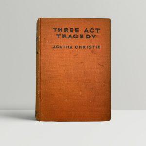 agatha christie three act tragedy first uk edition 1935