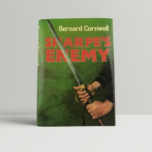 bernard cornwell sharpes enemy first uk edition signed postcard