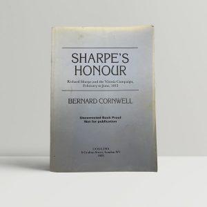 bernard cornwell sharpes honour first uk proof 1985