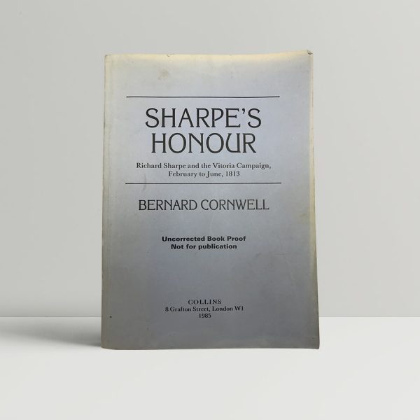 bernard cornwell sharpes honour first uk proof 1985