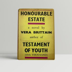 brittain vera honourable estate first uk edition 1936 signed