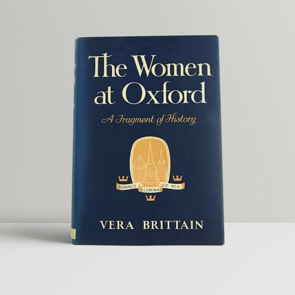 brittain vera women at oxford first uk edition 1960 signed