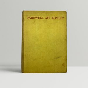 chandler raymond farewell my lovely first uk edition 1940