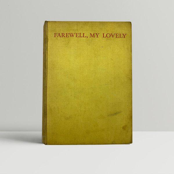 chandler raymond farewell my lovely first uk edition 1940