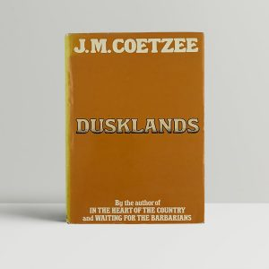 coetzee j m dusklands first uk edition