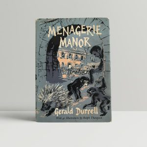 durrell gerald menagerie manor first uk edition signed