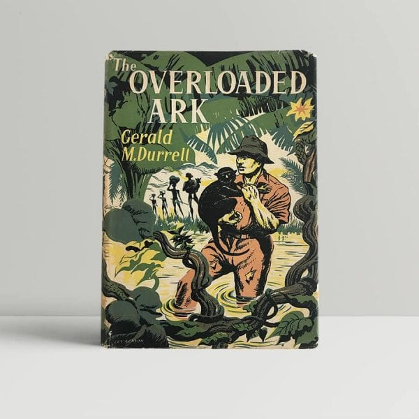 durrell gerald the overloaded ark first uk edition 1953 signed