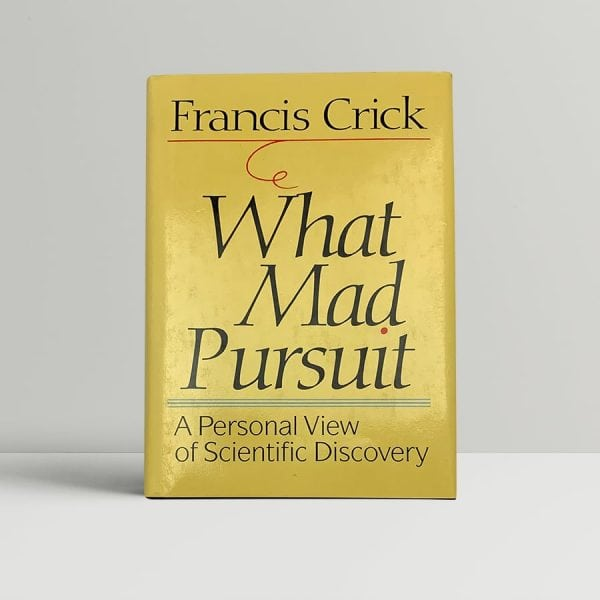 francis crick what mad pursuit first us edition signed