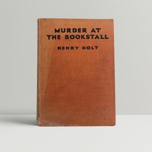 holt henry murder at the bookstall first uk edition 1934