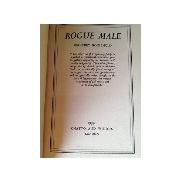 household geoffrey rogue male 1st uk edition 1939 4