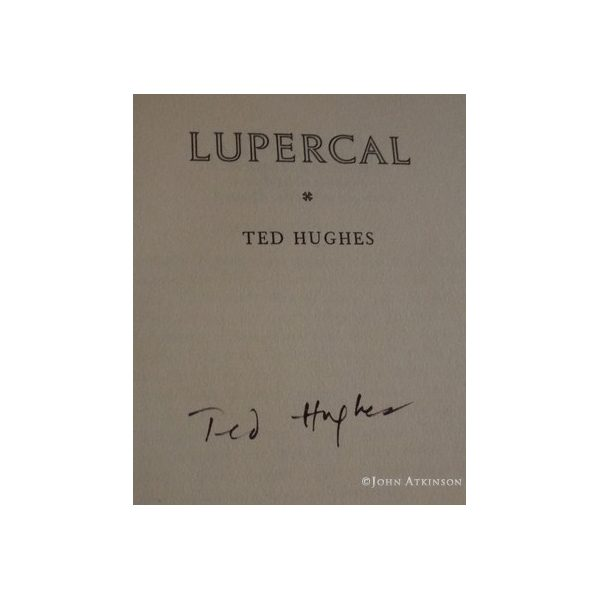 hughes ted lupercal first uk edition 1960 signed 2
