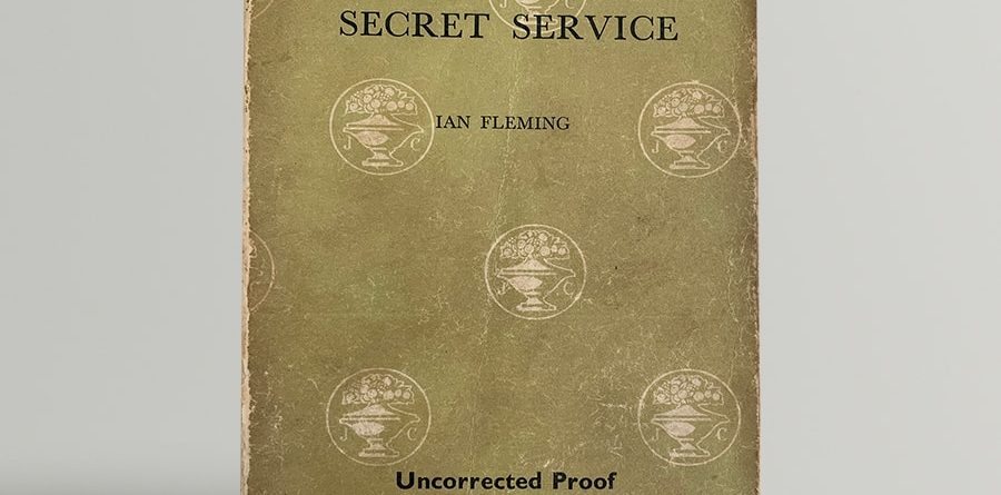 ian fleming on her majestys secret service uncorrected proof copy 1963