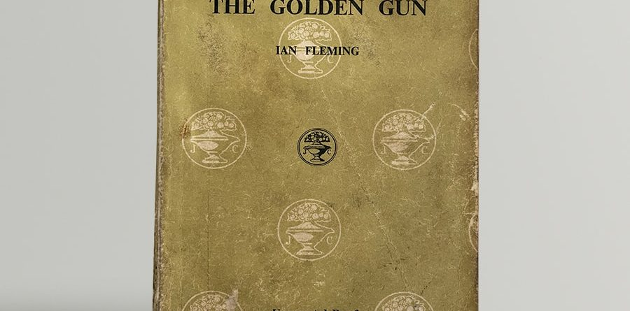 ian fleming the man with the golden gun uncorrected proof copy 1965