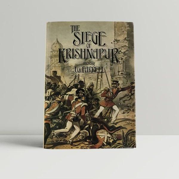 j g farrell the siege of krishnapur first uk edition 1973 booker