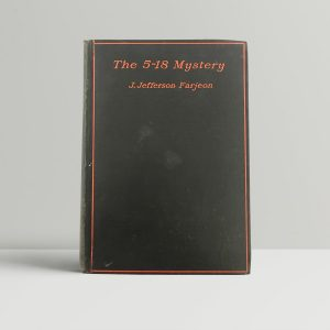 j jefferson farjeon the 5 18 mystery first uk edition 1929