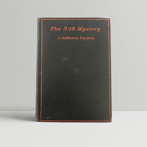 j jefferson farjeon the 5 18 mystery first uk edition 1929
