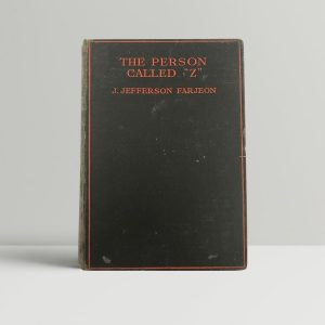 j jefferson farjeon the person called z first uk edition 1930
