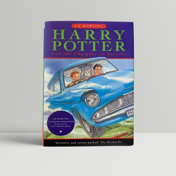 j k rowling harry potter and the chamber of secrets signed by the author and by the dust wrapper cliff wright