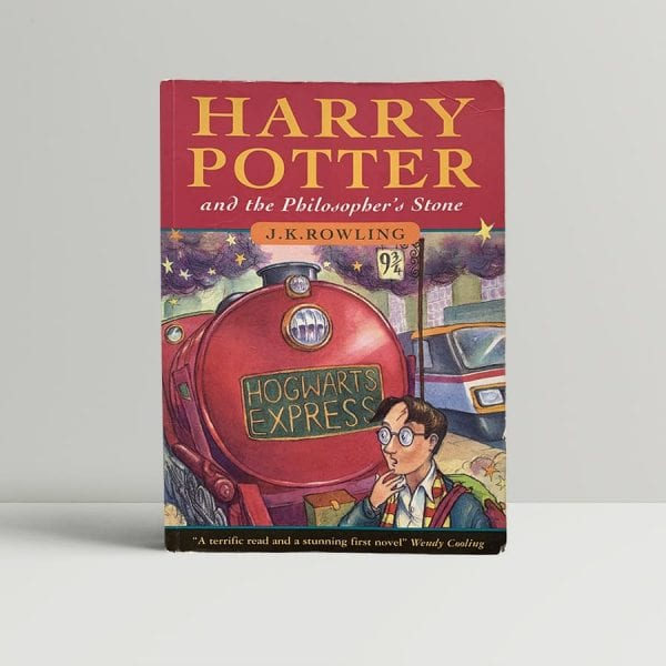 j k rowling harry potter and the philosophers stone first uk edition paperback 1997