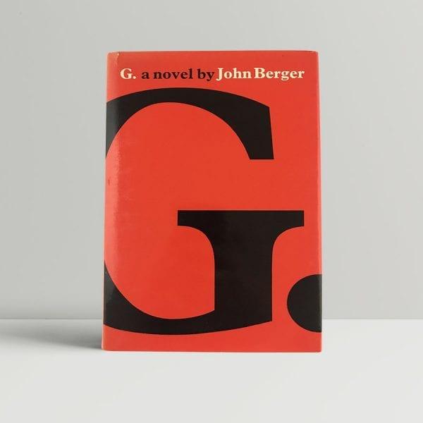 john berger g a novel first uk edition 1972 4