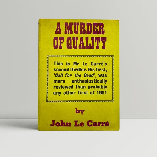 john le carre a murder of quality first uk edition 1962 signed